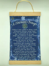 A Fireman's Prayer,Canvas Wall Print, 8x12,Dark Blue Background