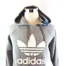 Adidas ORIGINAL 3FOIL HOODY Graphic Sweatshirt Gray White Mens XLARGE NWT