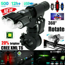 NEW LED Bicycle Headlight Mountain Bike Front Lamp Rear light Rechargeable Rear