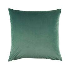 Bianca Vivid Sage Velvet Square Filled Cushion 43cm x 43cm
