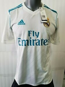 adidas Real Madrid Home Jersey Youth 17-18 White