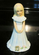 Vintage 1982 Enesco Growing Up Birthday Girls Porcelain Figurine Statue 10 years