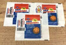 1986 Fleer Basketball Wax Wrappers Lot Of 3
