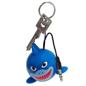 Kitsound Mini Buddy Portable Speaker Shark KSNMBSHK, blau, Blister