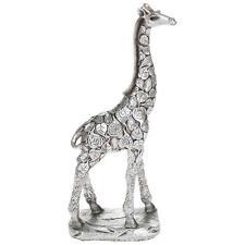New Silver Leaf Giraffe Standing Statue Ornament Figurine 31.5 cm Tall 45632