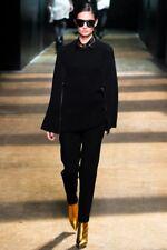 3.1 PHILLIP LIM chunky knit merino wool zipper sleeve runway cape sweater L