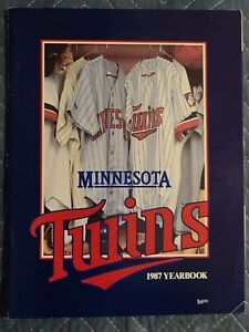 1987 Minnesota Twins Yearbook World Series Winners