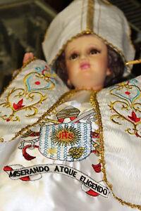 Vestido Nino Dios, Ropa Niño Dios, Ropa Nino Dios, El Papa en Blanco Talla #45