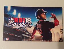 CLEVELAND INDIANS FRANCISCO LINDOR 2018 XBOX ONE RBI RBI18 BASEBALL PROMO CARD