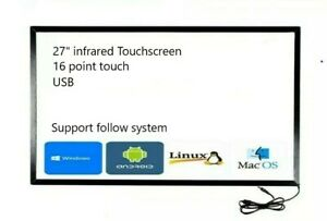 27 inch USB IR Multi touch screen overlay for Dell HP lenovo touch scree LCD