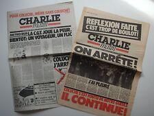 CHARLIE MATIN n°1 et n°2 - MARS 1981 - COLUCHE - PRESIDENTIELLE -