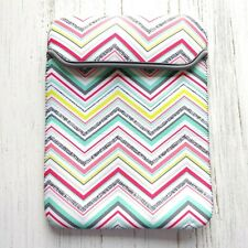 Thirty One Tablet Sleeve Pouch Party Punch Chevron Gray Stretch Pocket