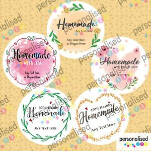 Personalised Homemade Jar Labels Stickers Jams Preserves Mason Home Made Cooking