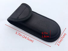Good HQ Black Nylon Sheath For Folding Pocket Knife Outdoor Practical Pouch Case
