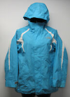 Girls THE NORTH FACE Hyvent Blue Seam Sealed Hooded Rain Jacket sz L 14/16 PLAY