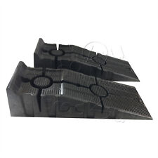 2X  SUPER STABLE EXTRA WIDE HEAVY DUTY PLASTIC CAR RAMPS WIDE WHEELS
