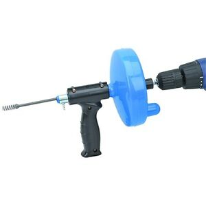 25 Ft. Drain Cleaner With Drill Attachment Pipe Plumbing Snake Clog Sink Toilet