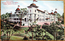 1909 Colfax, IA Postcard: Hotel, Mineral Springs & Baths - Iowa