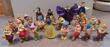 Disney Snow White & 7 Dwarfs Lot of 22 PVC Figurines / Cake Toppers
