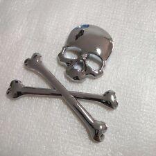 Style 3D Metal Silver Auto Car Sticker/standard Skull Head Badge Emblem Tail