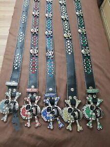 Mens fashion skull belt