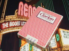 Clarion Casino Vintage Reno Nevada Used Playing Cards Red
