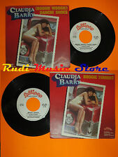 LP 45 7''CLAUDJA BARRY Boogie woogie dancin'shoes Tonight 1978 italy(*)cd mc dvd