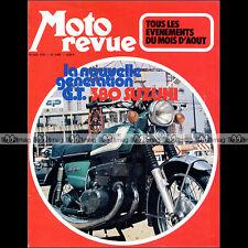 MOTO REVUE N°2087 SUZUKI GT 380 GRAND PRIX GUZZI 750 SUPER SPORT BOL D'OR 1972