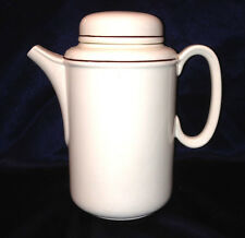 J & G MEAKIN TREND CREAM BROWN LINE RODEO 6 CUP COFFEE POT& LID ENGLAND