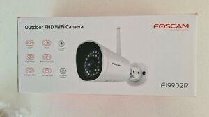 Foscam FI9902P Wireless 1080P Outdoor IP Security Camera - AI Human Detection, -