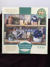 WOOD 1000 piece Rhapsody In Blue Gardening Theme Mega Brand Wild Wings Complete