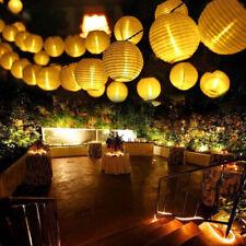 LED Fairy String Lights Solar Power Chinese Lantern Garden Outdoor Party Decor