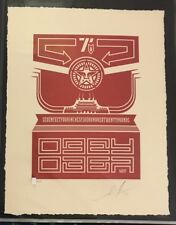 SHEPARD FAIREY CHINESE BANNER  LETTERPRESS SIGNED NUMBERED PRINT