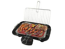 Barbecue Elettrico Con Doppia Griglia Bistecchiera Cottura Senza Fumo 2000W