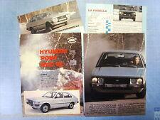 QUATTROR982-PROVA SU STRADA/ROAD TEST-1982- HYUNDAI PONY 1200 GL -4 fogli
