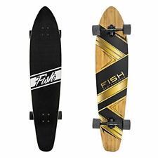 FISH SKATEBOARDS Longboard Skateboard 44-Inch 7-Ply Artisan Bamboo and Maple ...
