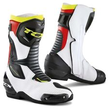 STIVALI BOOTS MOTO SPORT RACING TCX SP-MASTER-AIR WHITE RED YELLOW FLUO TG 43