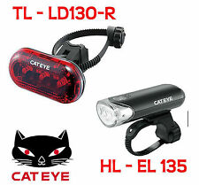 - New - Cateye HL-EL135 + TL-LD130-R Opticube LED Bicycle Light