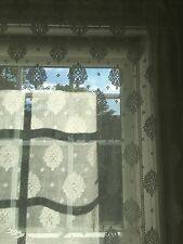 "New Scottish Fine Lace Panel Curtain Window 48"" x 248 "" Cotton  White  England"