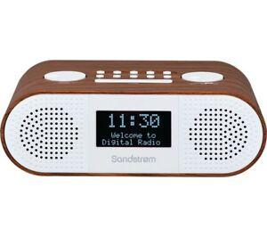 SANDSTROM S-DBTW18 DAB+ FM BLUETOOTH CLOCK RADIO LCD DISPLAY DUAL ALARM USB AUX