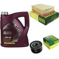 Motor-Öl 5L MANNOL Elite 5W-40+MANN-FILTER für Renault Megane II 1.6 16V