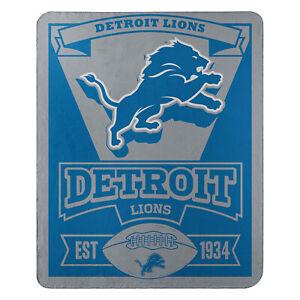 "New Football Detroit Lions Fleece blanket ""Marque"" Soft Throw 50"" x 60"""