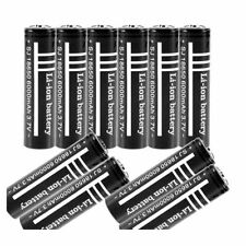 10X 3.7V 6000mAh 18650 Li-ion Rechargeable Battery for UltraFire SN