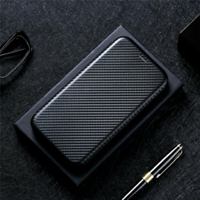For TCL 20 Pro 5G, Business Carbon Fiber Cover Flip Leather Wallet Magnetic Case