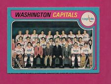 1979-80 OPC # 260 CAPITALS UNMARKED TEAM CHECKLIST EX-MT CARD (INV#4135)