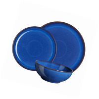 Denby 12-Piece Stoneware Imperial Breakfast Set, Blue