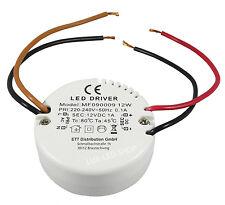 Mini LED Trafo LED Treiber LED Einbautrafo LED Rundtrafo - 0,5 - 12 Watt DC