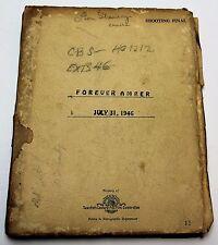 Forever Amber * 1946 Movie Script * Otto Preminger, 17th Century History Drama