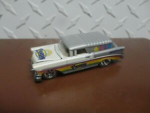 Loose Hot Wheels Silver/White Peeps '56 Nomad w/Real Riders