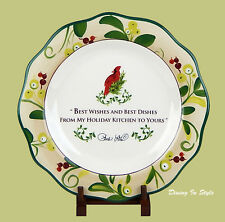 """11-1/2"""" Dinner Plate  NEAR MINT! Paula Deen Home For The Holidays, Best Wishes"""